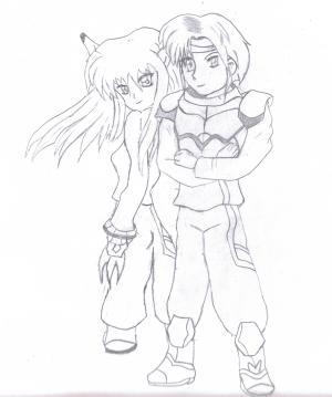 Chaz & Rika • Phantasy Star: Fringes of Algo