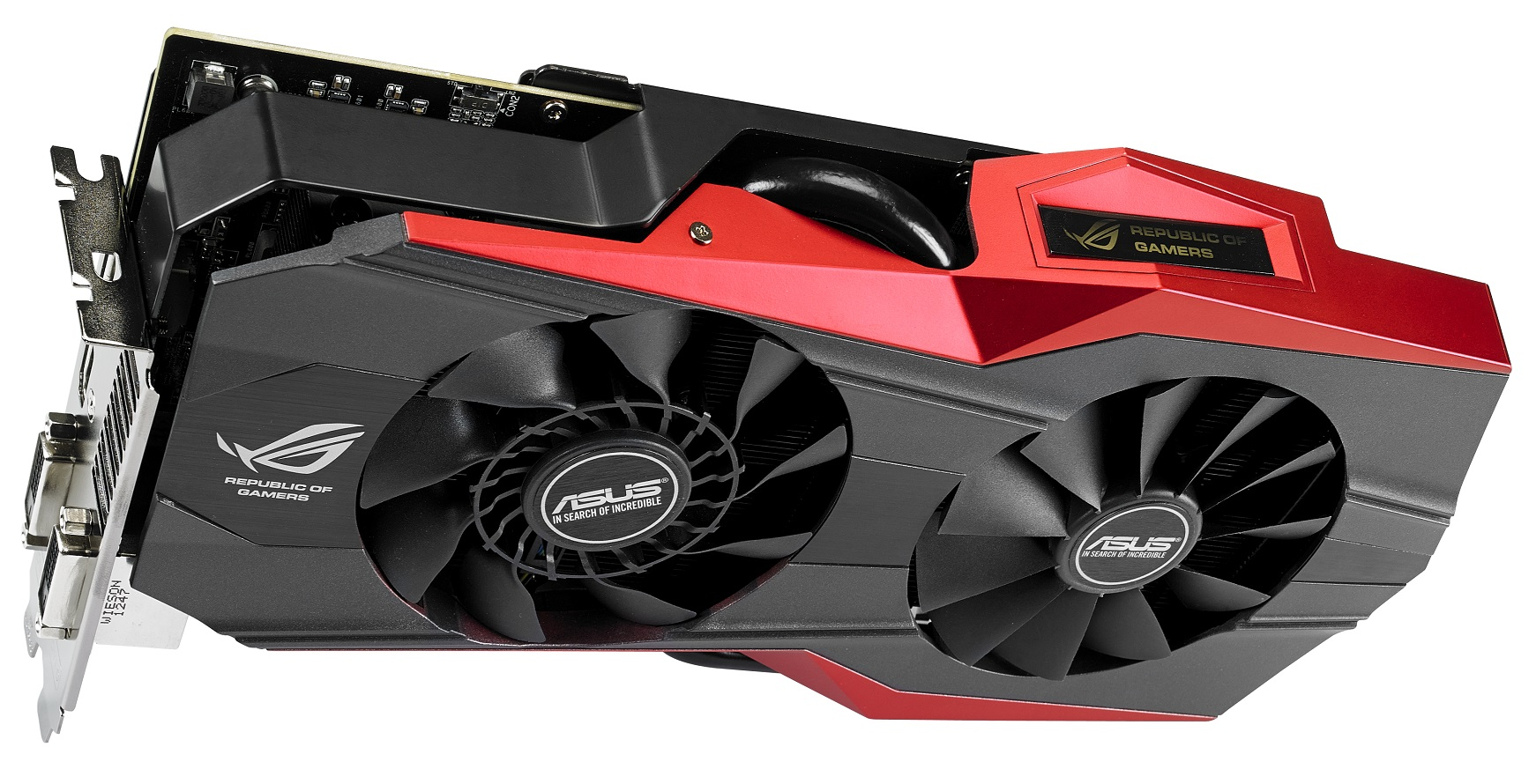 ASUS ROG MATRIX R9 290X Platinum Graphics Card Pictured