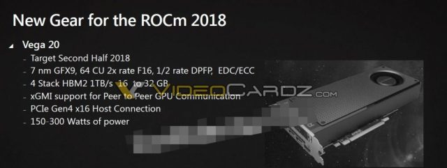 AMD VEGA 20 specifications 1000x377 Will 7nm process chips become reality? The AMD labs might be evaluating the technology at the moment!