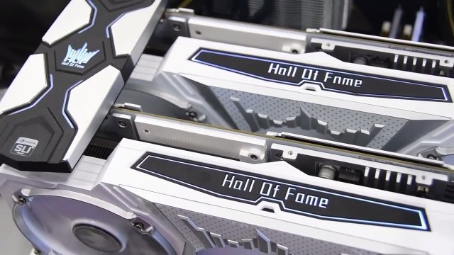 GALAX GTX 1070 Ti HOF 2 The GALAX GTX 1070 Ti HOF is here   Pictured with some of the TimeSpy figures!