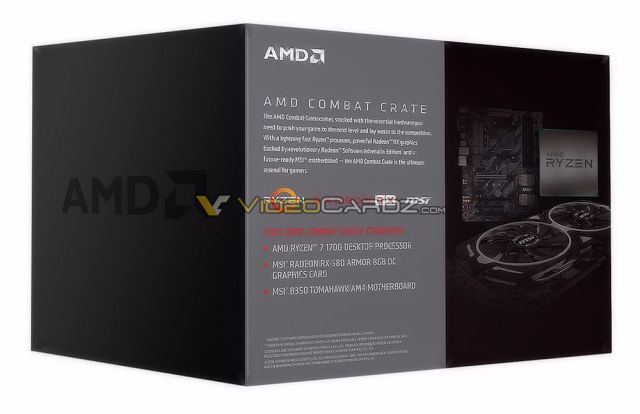 AMD Combat Crate RX 580 AMD to roll out all new Combat Crates   A complete package of Ryzen CPUs, RX GPUs and MSI Motherboard