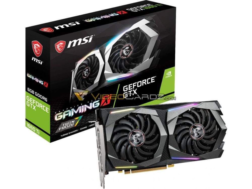 MSI GeForce GTX 1660 Ti GAMING X and ARMOR OC pictured