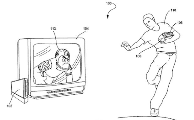 Wii Football controller accessory patented by Nintendo