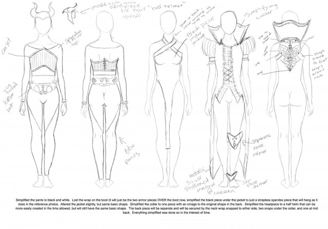Cosplay Outfit Ideas Full Sketch