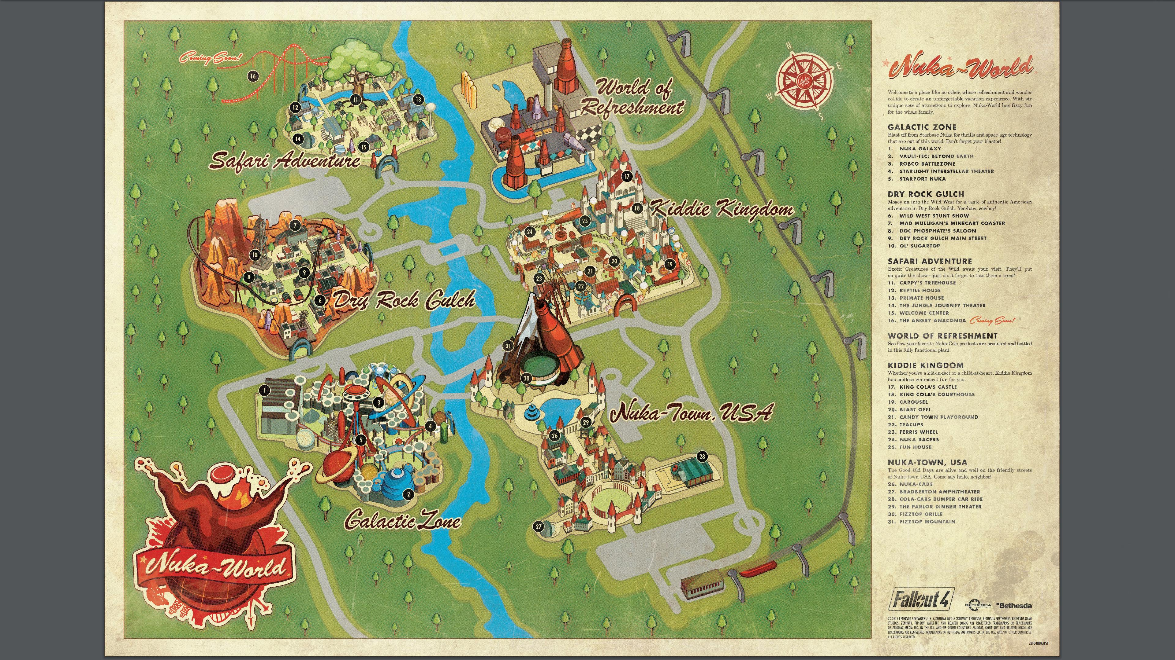 Fallout 4 Nuka World Park Map