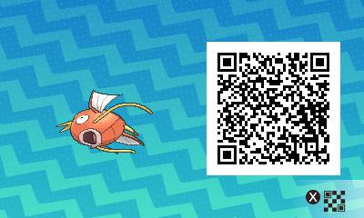 Pokemon Sun And Moon Male Magikarp QR Code