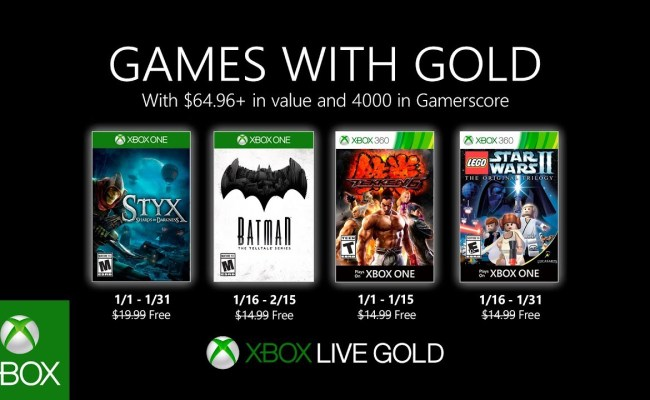 Xbox Games With Gold January 2020 Lineup