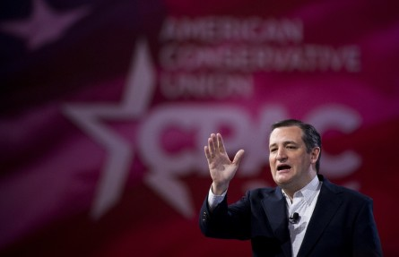 UNITED STATES - MARCH 4: Republican presidential candidate Texas Senator Ted Cruz speaks at the American Conservative Union's CPAC conference at National Harbor in Oxon Hill, Md., on Friday, March 4, 2016. (Photo By Bill Clark/CQ Roll Call)