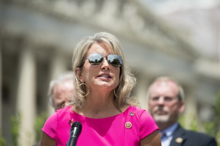 UNITED STATES - JUNE 24: Rep. Renee Ellmers, R-N.C., speaks during a press conference outside the Capitol with members of the House Energy and Commerce Committee and members from the House Kentucky Delegation on the