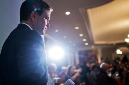 Now in the limelight of a presidential campaign, Rubio and other candidates still have Senate duties to fulfill. (Tom Williams/CQ Roll Call)