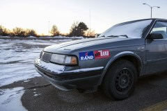 Campaign stickers are seen on a car in the parking lot at the state campaign headquarters of Paul, R-Ky., in Des Moines, Iowa, on Sunday, Jan 17, 2016.  (Al Drago/CQ Roll Call File Photo)