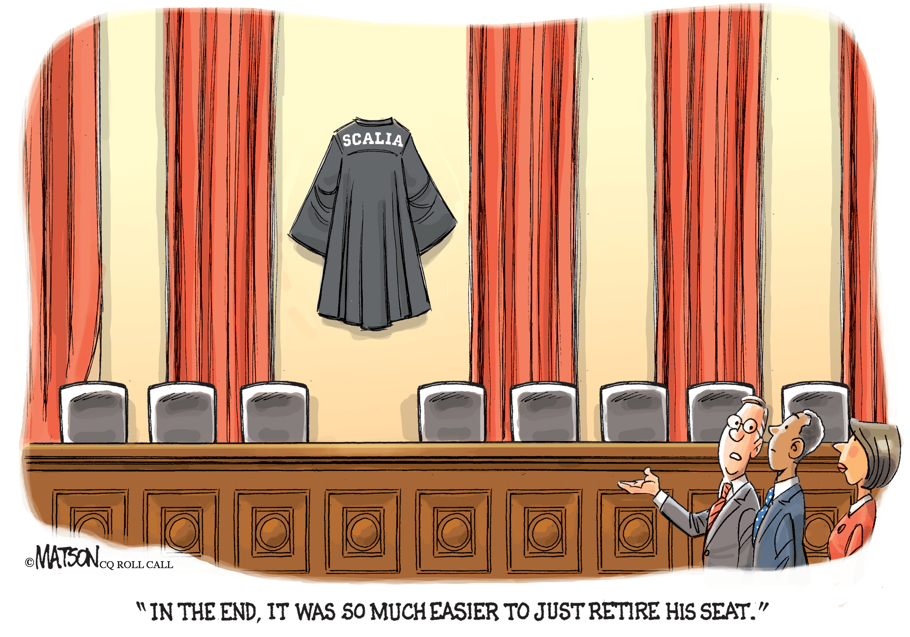 In the end, it was so much easier to just retire his seat.