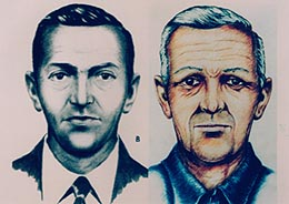 FBI Sketch of D.B. Cooper, with age progression.