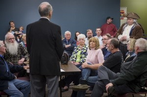 Robinson, right, asks Grassley a question. (Bill Clark/CQ Roll Call)