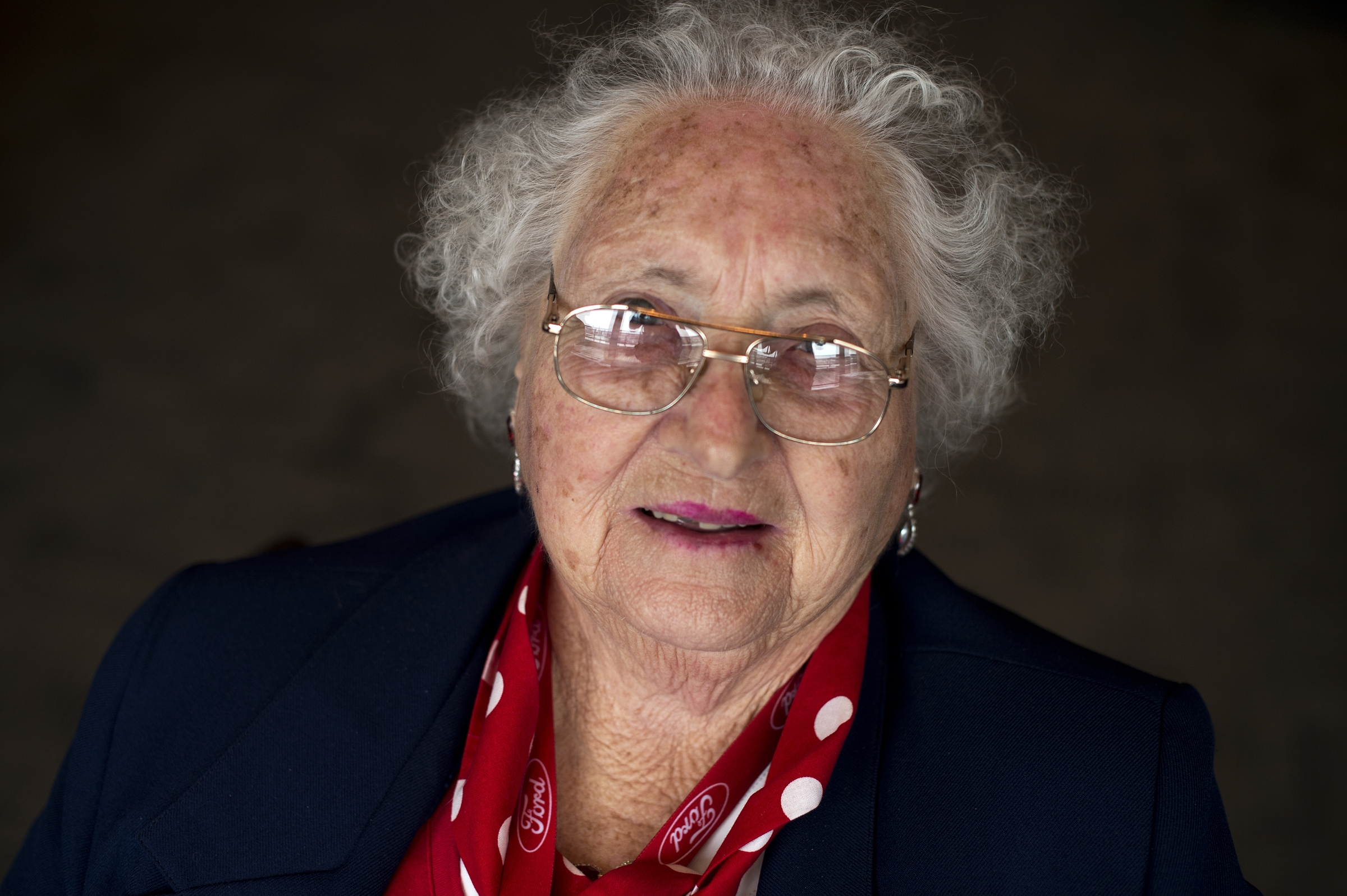 UNITED STATES - MARCH 22: Loraine Osborne, a World War II era Rosie the Riveter, is photographed during a lunch for a group of about 30 Rosies at the Library of Congress, March 22, 2016. They were part of an Honor Flight from Detroit who were on a tour of D.C. that included stops on Capitol Hill, the World War II Memorial, and Arlington National Cemetery. (Photo By Tom Williams/CQ Roll Call)