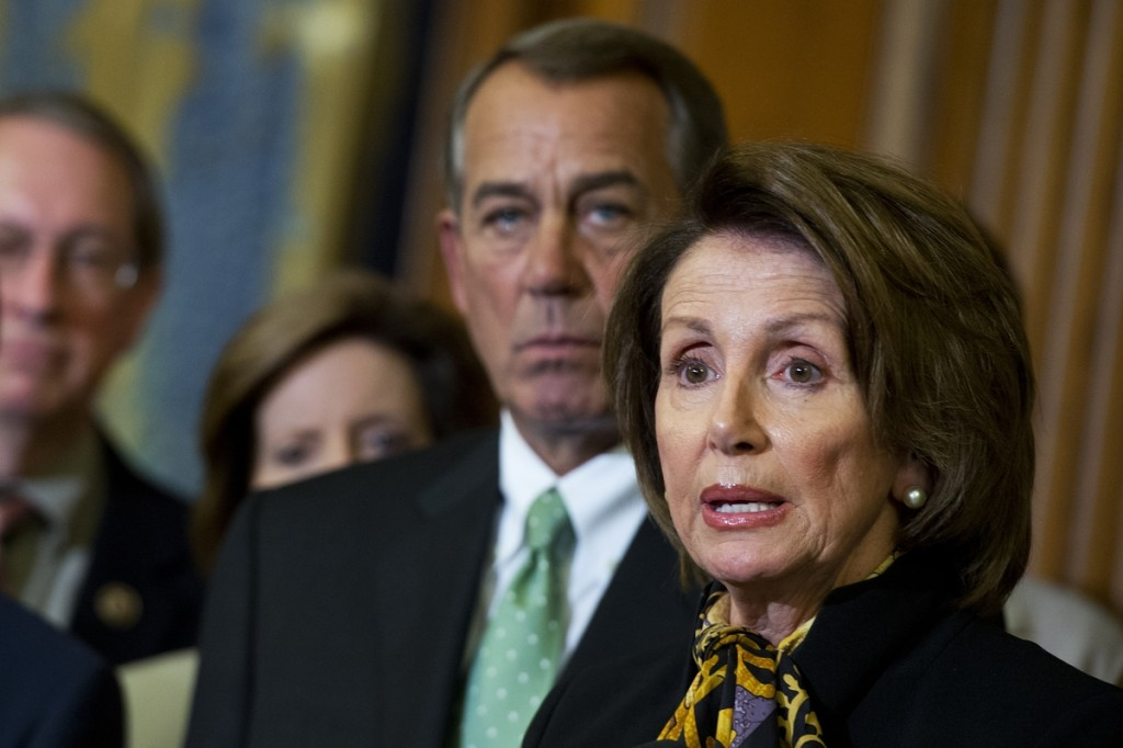 Nancy Pelosi and John Boehner (Photo By Tom Williams/CQ Roll Call)
