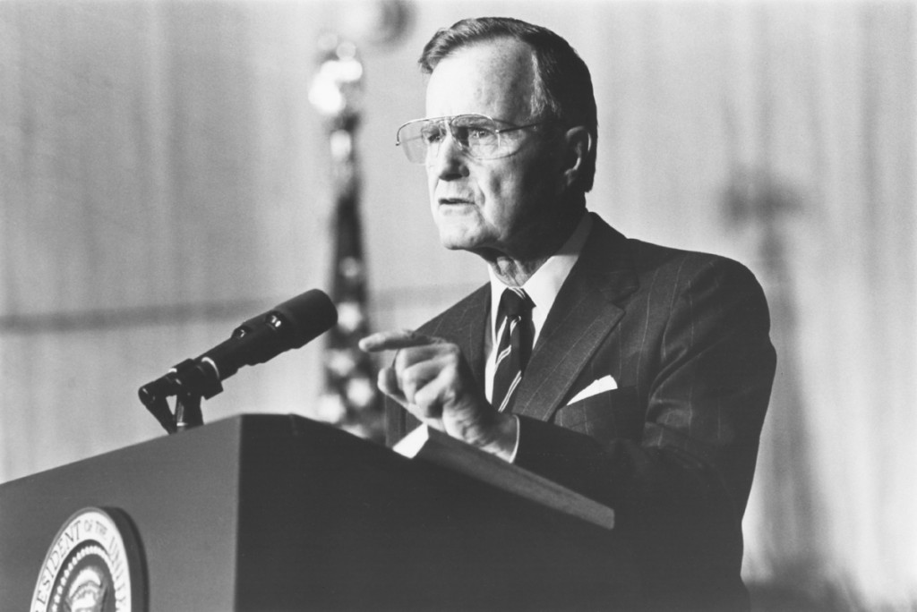 George H.W. Bush drew criticism in 1988 for his choice of words when referring to his son Jeb's children. (CQ Roll Call File Photo)