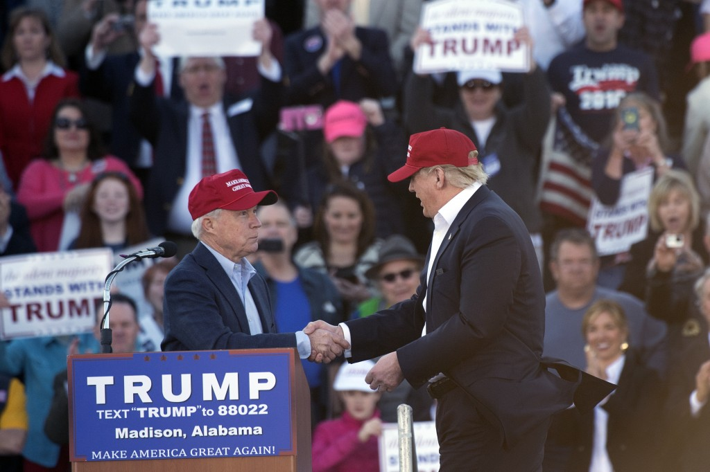 Alabama Sen. Jeff Sessions as a running mate would reinforce Donald Trump's hardline stance on immigration reform. (Photo By Tom Williams/CQ Roll Call)