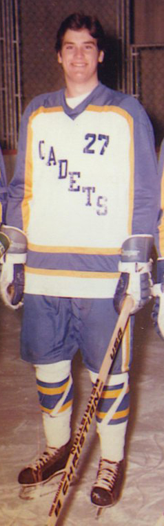 Emmer playing hockey back in the day. (Photo courtesy of Emmer's office)
