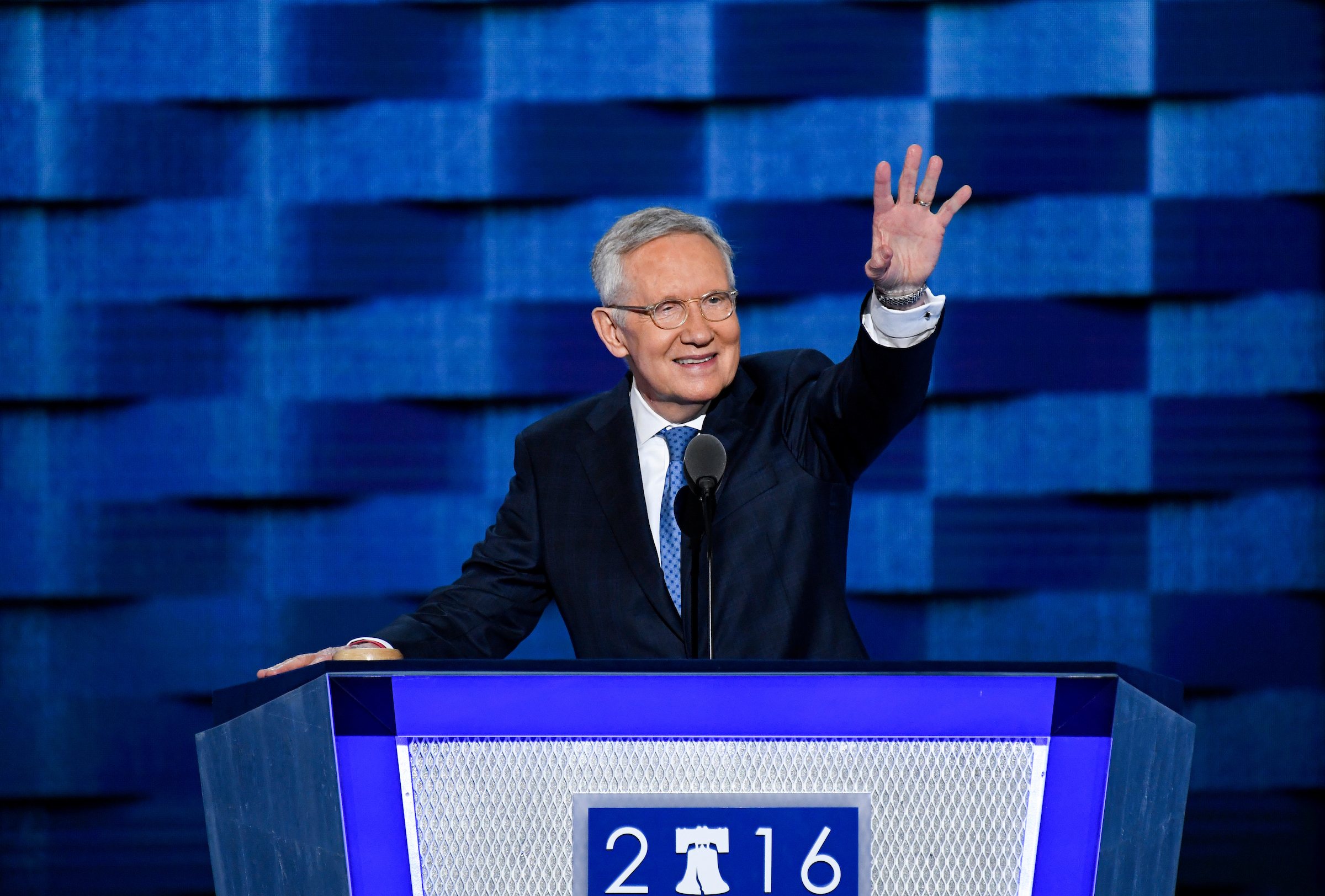 Senate Minority Leader Harry Reid speaks at the Democratic National Convention on Wednesday. (Bill Clark/CQ Roll Call)