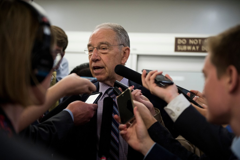 Iowa Sen. Charles E. Grassley opposes reauthorizing the EB-5 visa program without substantial changes. (Bill Clark/CQ Roll Call file photo)