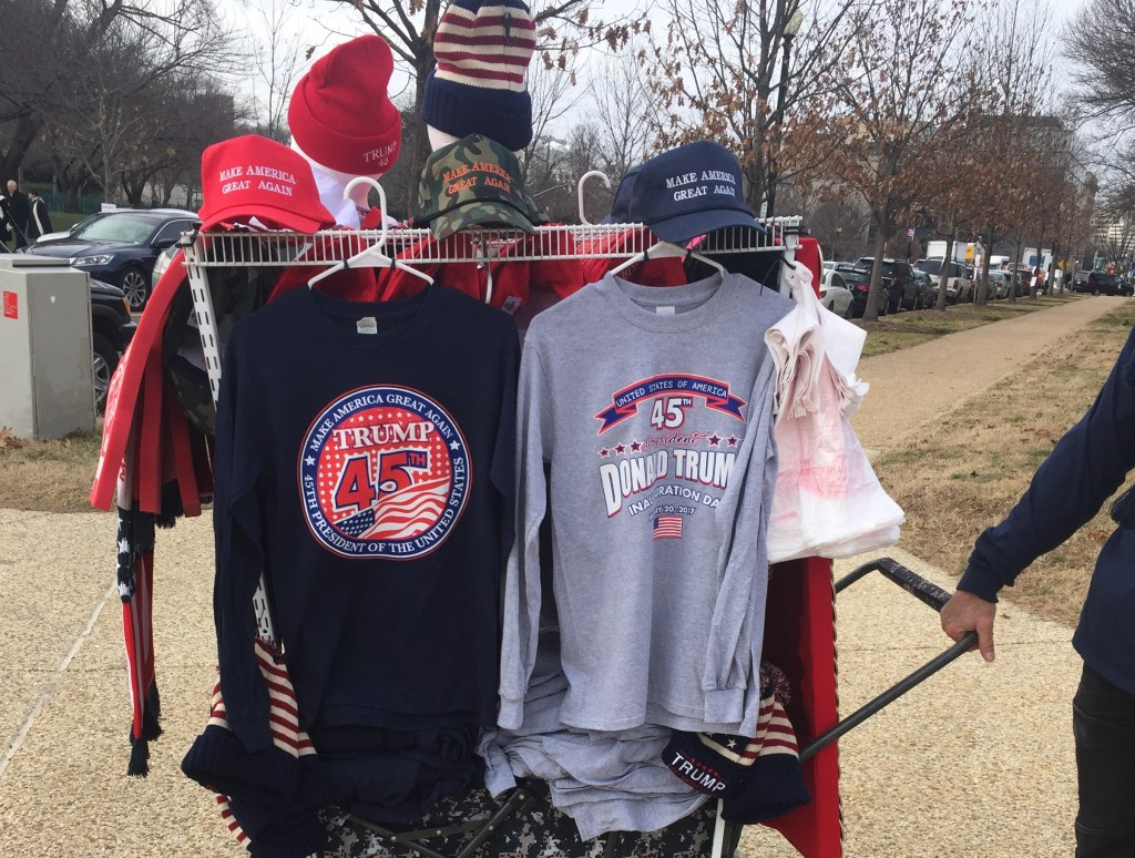 President-elect Donald Trump shirts being sold outside of the Capitol. (Alex Gangitano/ CQ Roll Call)