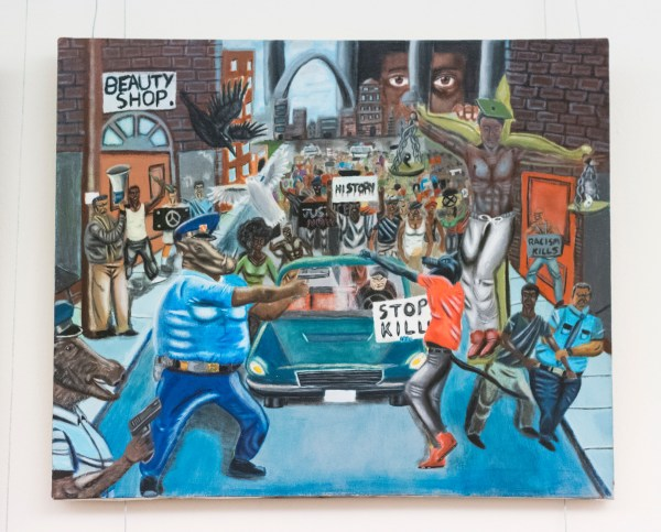 Hunter Removes Controversial Ferguson Police Painting Cannon Tunnel