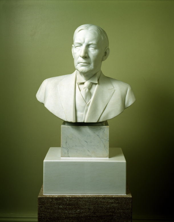 The bust of Vice President Charles G. Dawes. (Photo courtesy Senate.gov)