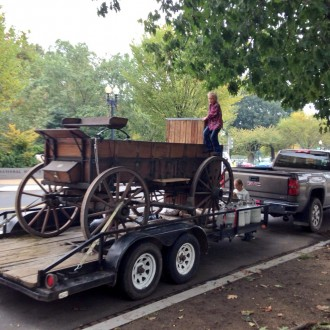 The Grass March Cowboy Express brought a chuck wagon. (Hannah Hess/CQ Roll Call)