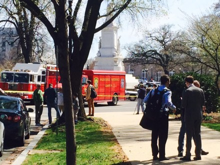 The scene outside the West Front of the Capitol. (Chris Hale/CQ Roll Call)