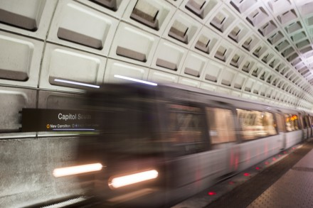 UNITED STATES - AUGUST 19: A Silver Line Metro train pulls into Capitol South Metro station on Capitol Hill on Wednesday, Aug. 19, 2015. (Photo By Bill Clark/CQ Roll Call)