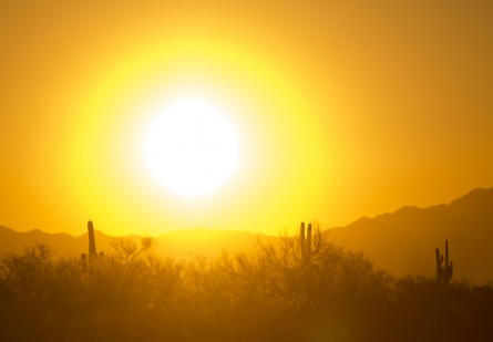 The sun sets in the West. (Bill Clark/CQ Roll Call)