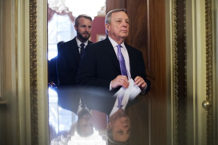 Durbin, right, said the president should have been more forceful. (Tom Williams/CQ Roll Call File Photo)