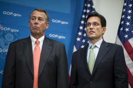 boehnercantor090613 445x296 House Conservatives Agitate for Change in Leadership — but Can They Take Boehners Gavel?