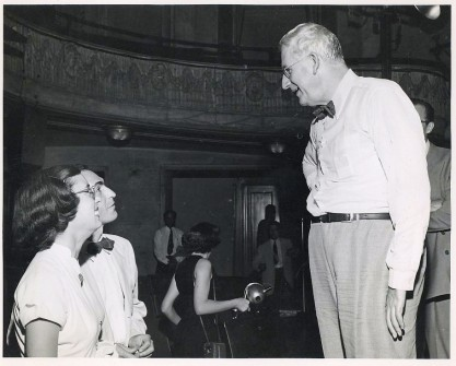 Sen. Paul Douglas with G.W. Foster and Jeanette Raymond, the parents of Rep. Bill Foster. (CQ Roll Call File Photo.)