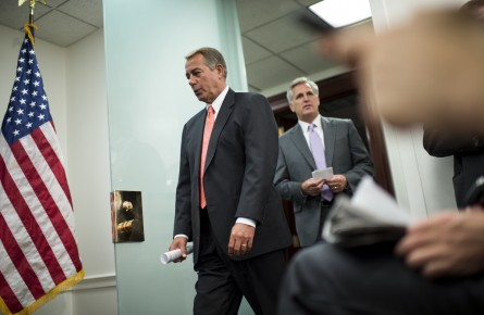 boehner 206 073113 445x290 House Votes to Arm Syrian Rebels; CR Passes (Updated)