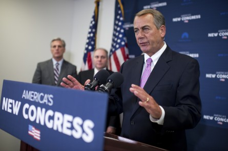 Boehner wants to file an immigration lawsuit, something that could help the GOP out of  sticky spot on a border funding bill. (Tom Williams/CQ Roll Call)