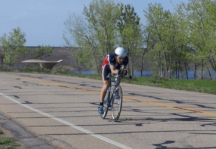 Brophy rides his bicycle in Colorado. (Courtesy Greg Brophy Campaign website)