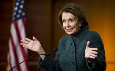 Pelosi stopped short of saying she wouldn't support a continuing resolution. (Bill Clark/CQ Roll Call)
