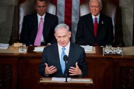 Netanyahu addressed a joint meeting of Congress. (Tom Williams/CQ Roll Call)