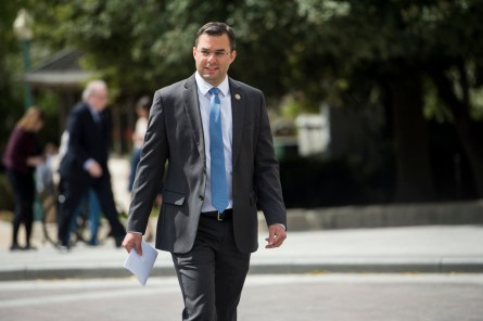 Amash, R-Mich., heads to the House floor for votes on Thursday, April 23, 2015. (Photo By Bill Clark/CQ Roll Call) Copyright © 2015 CQ-Roll Call, Inc.