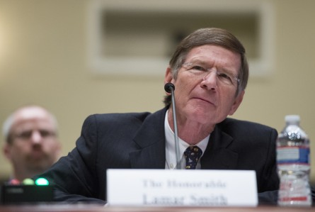 Smith, R-Texas, makes his case for funding of his committee during the House Administration Committee hearing on