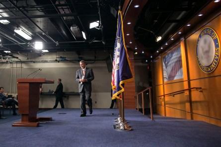 UNITED STATES - September 10: House Speaker John Boehner, R-Ohio, speaks during a news conference on Capitol Hill in Washington, Thursday, September 10, 2015.(Photo By Al Drago/CQ Roll Call)