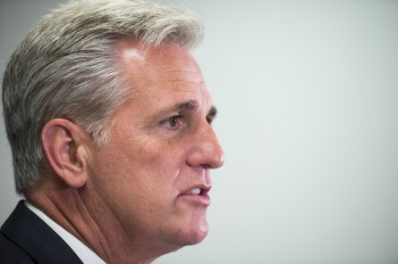 UNITED STATES - JUNE 2: House Majority Leader Kevin McCarthy, R-Calif., speaks to the media following the House Republican Conference meeting in the Capitol on Tuesday, June 2, 2015. (Photo By Bill Clark/CQ Roll Call)