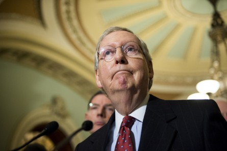 McConnell and other GOP leaders are preparing for weekend work as the calendar continues to change. (Bill Clark/CQ Roll Call)