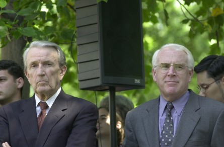 Visitor Center20(DG)062000 -- Former Members Vic Fazio and Dale Bumpers during the U.S. Capitol Ground Breaking Ceremony.