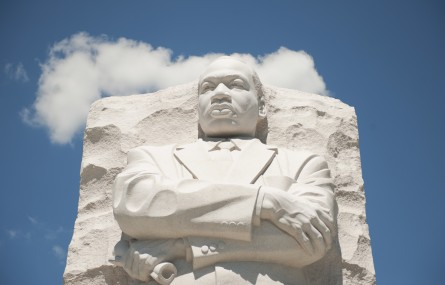UNITED STATES - AUGUST 23:  The Martin Luther King Jr. Memorial memorial, a tribute to the civil rights leader, is located on the Tidal Basin.  The memorial is open to viewing by the public and the official dedication ceremony will take place on August 28.  (Photo By Tom Williams/Roll Call)