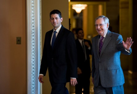 Ryan, left, and McConnell, right, laid out their 2016 agendas. (Bill Clark/CQ Roll Call File Photo)