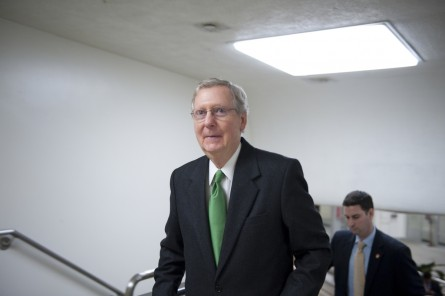 UNITED STATES - Dec 04: Sen. Mitch McConnell, R-KY., walks to the U.S. Capitol from the Senate Subway on December 4, 2012. (Photo By Douglas Graham/CQ Roll Call)