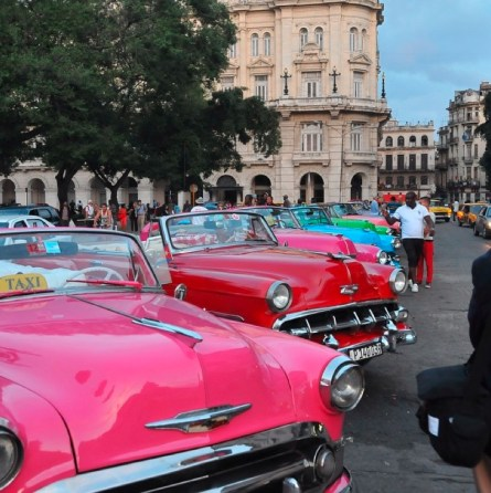 age cars lining a street in Havana caught Sen. Patrick Leahy's eye January 2015 during a congressional trip to the island. (Patrick Leahy/Instagram)